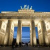 The Brandenburg Gate at night