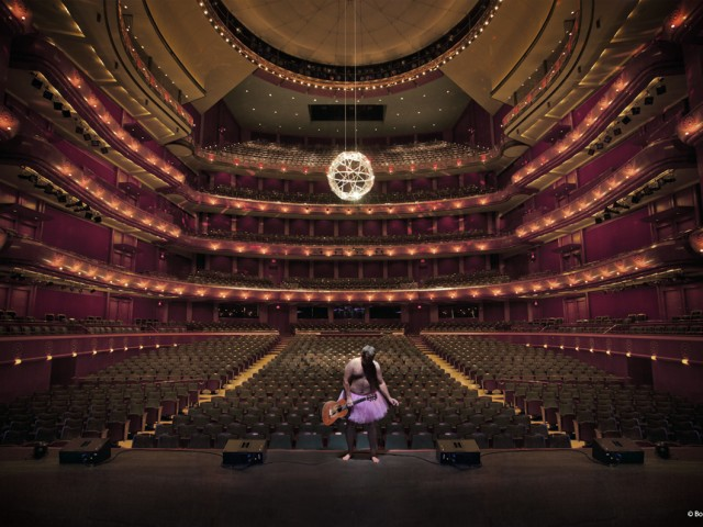 BobCarey-NJPAC-Trigger-WillieNelson-Guitar - The Tutu Project for Breast Cancer Awareness