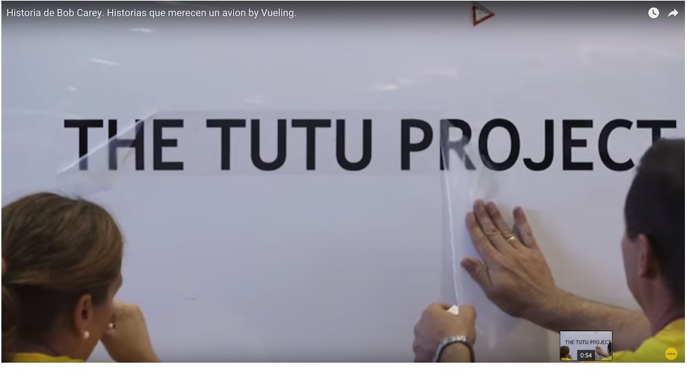 Airplane Named After 'The Tutu Project' by Vueling Airlines