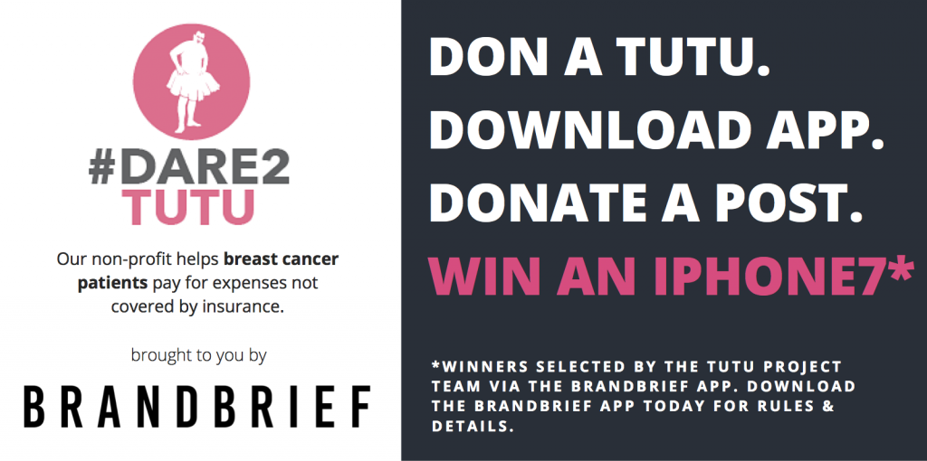 breast cancer campaign dare2tutu partners with BrandBrief
