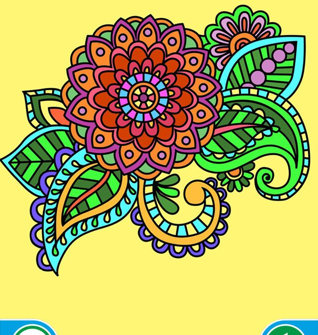 Coloring Books for adults – Mandala , ornament , anti-stress , art therapy +