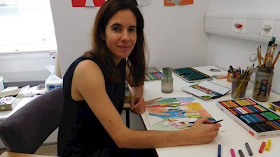 Patients with cancer at St Bartholomew's benefitting from art therapy