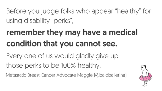 Don't judge breast cancer patients by how they look.