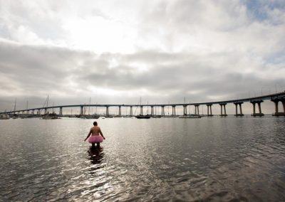Coronado Bridge. Coronado Island, California.