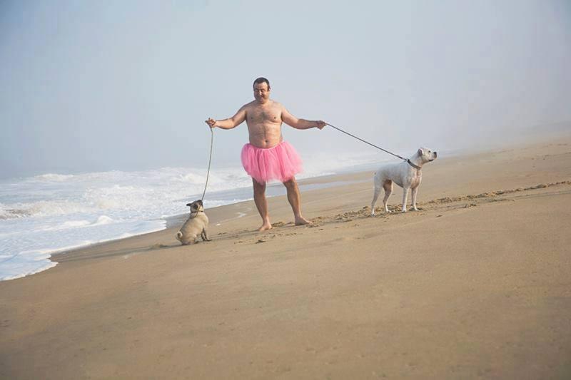 Two Doggies. Dewey Beach, Delaware. 2008