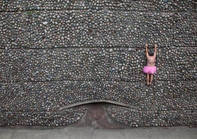 Rock Wall. Grand Rapids, Michigan.