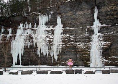 Icicles. Watkins Glen, New York.