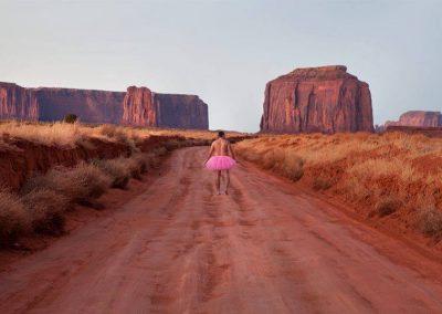High Desert Road #2. Monument Valley, Utah-Arizona.