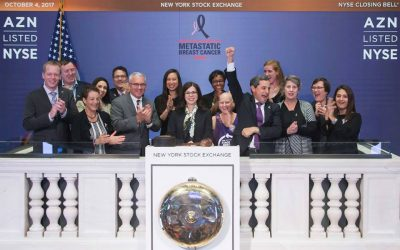 The New York Stock Exchange Goes Beyond Pink with AstraZeneca