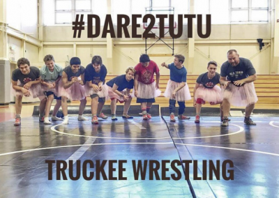 Truckee Wrestling Team #Dare2Tutu For Breast Cancer Awareness