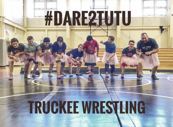 Truckee Wrestling Team #Dare2Tutu For Breast Cancer Awareness