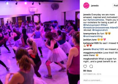 JANE DO Barre Studio #Dare2Tutu Breast Cancer Fundraiser